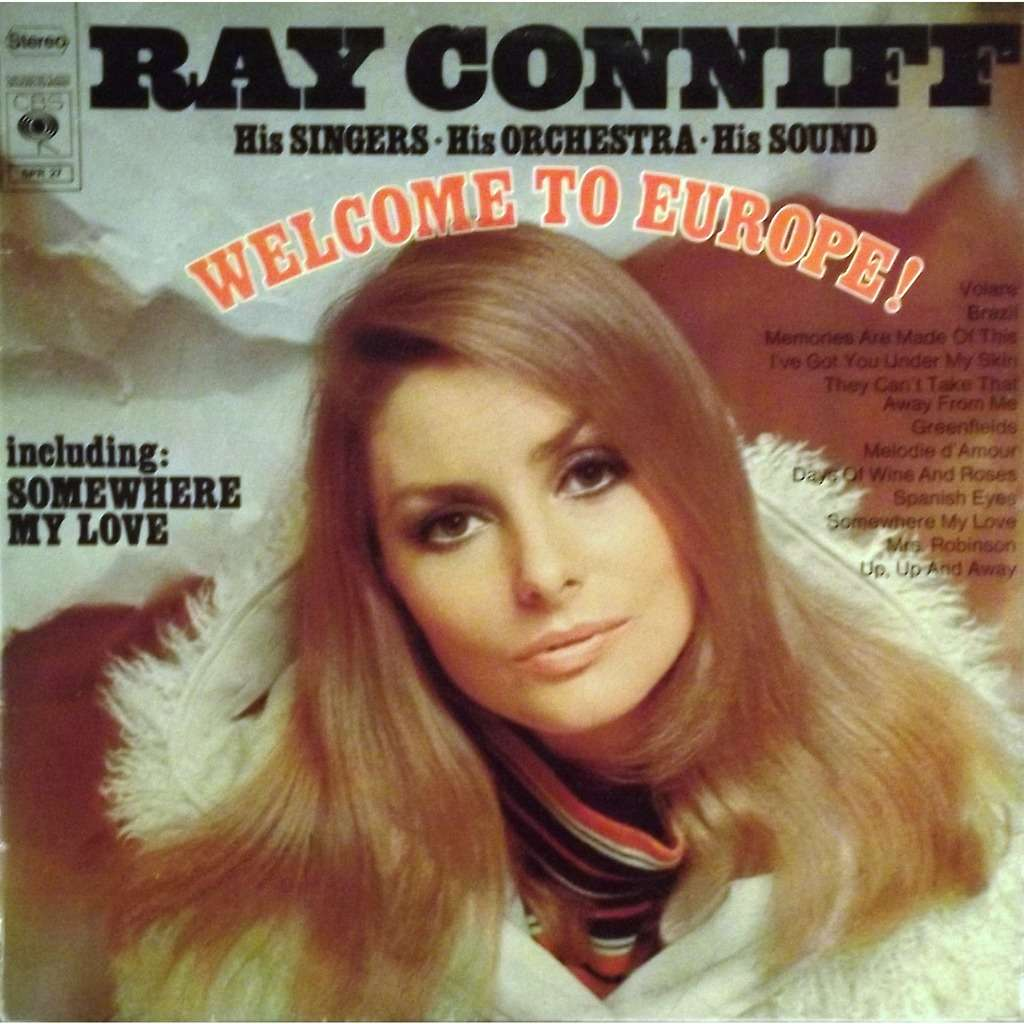 Welcome To Europe By Ray Conniff Lp With Vinyl59 Ref