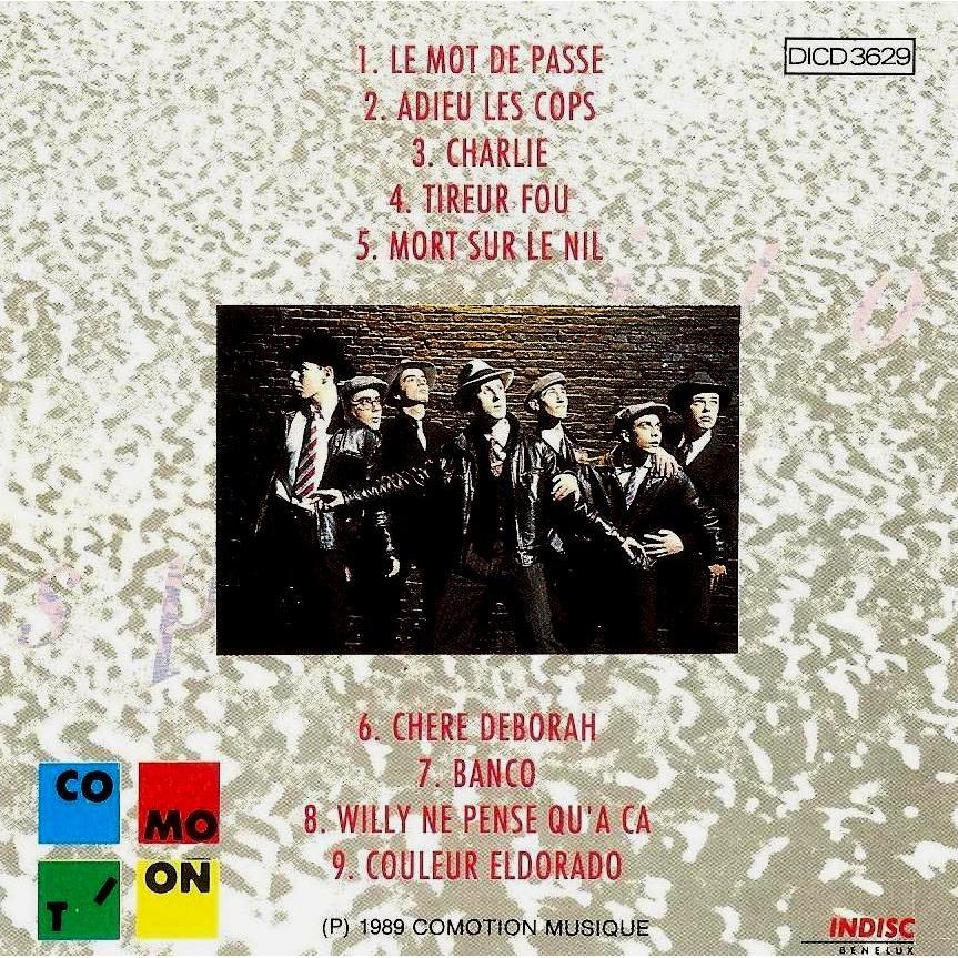 Gangsters D'amour (feat. Jeff Bodart ) Spirito (Rare Cd Sorti Uniquement En Belgique En 1989)