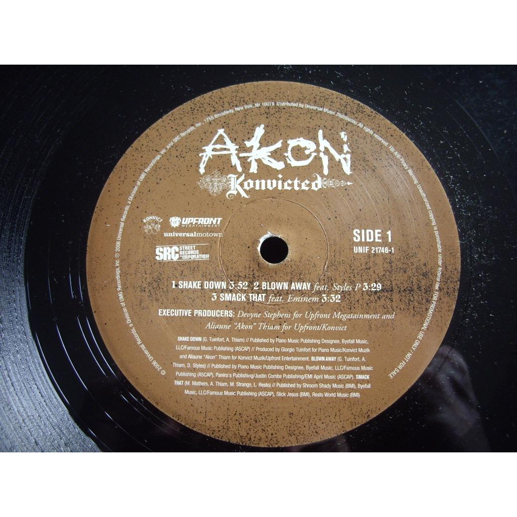 Konvicted by Akon, LP x 2 with dj-kurt