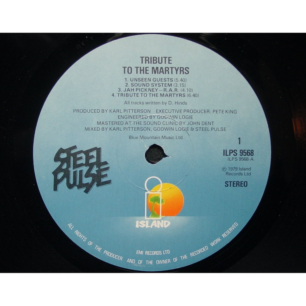 tribute to the martyrs by steel pulse lp with themroc