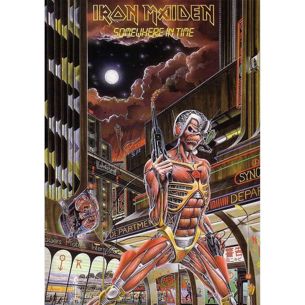 Somewhere in time by Iron Maiden, LP with londonbus - Ref ...