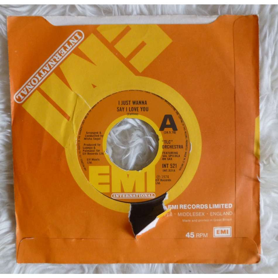 TLC orchestra I just wanna say I love you / Dynamite explodes ( Rare UK Nothern Soul )