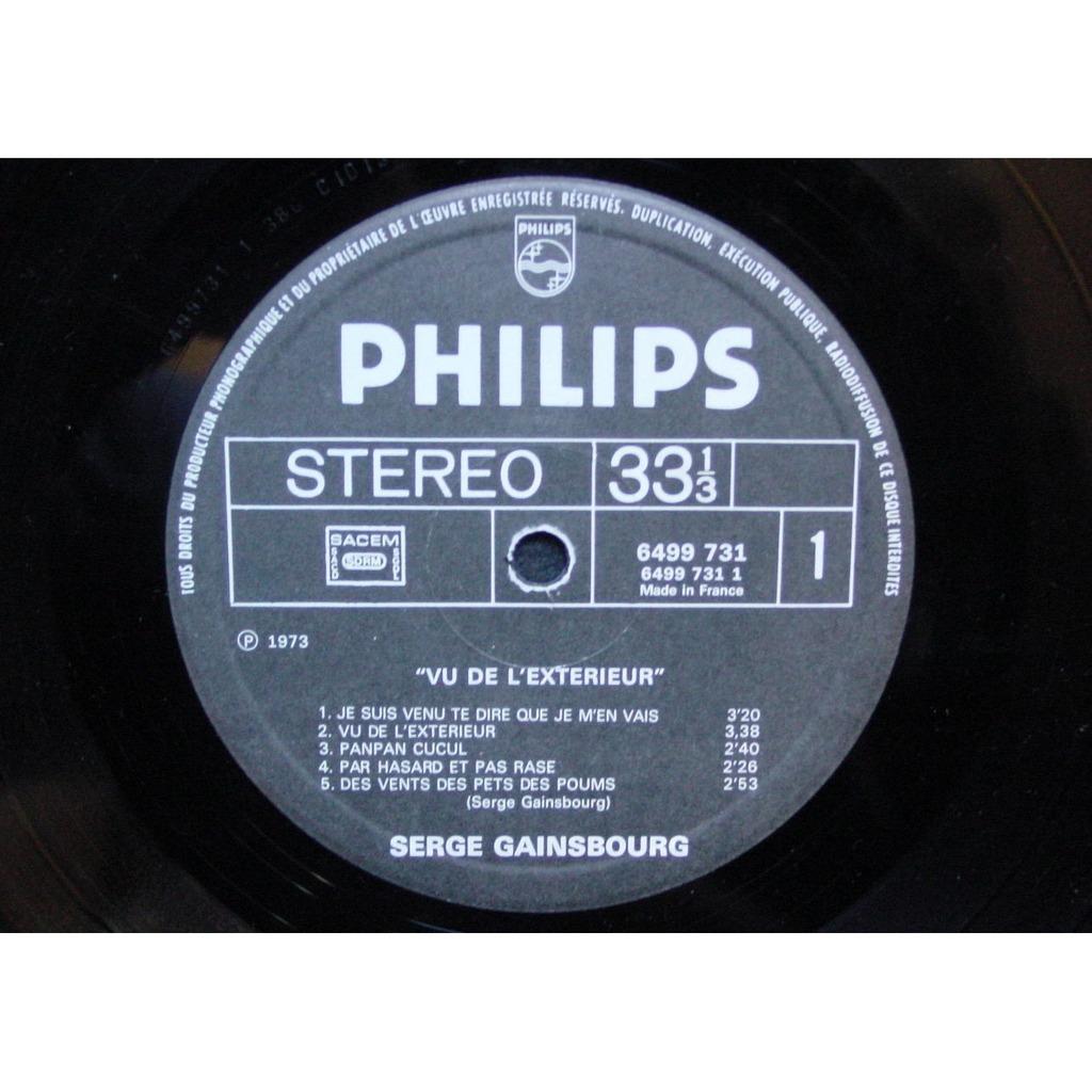 Vu de l 39 exterieur de serge gainsbourg 33t chez themroc for Gainsbourg vu de l exterieur