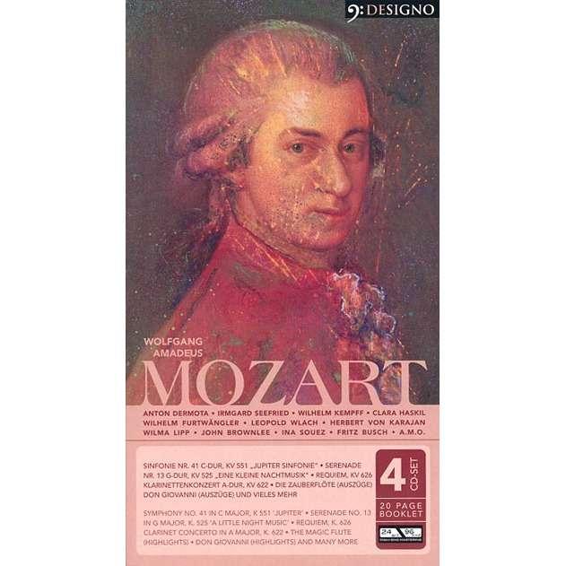Wolfgang Amadeus Mozart 4 CD Set :  Wolfgang Amadeus Mozart