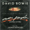 DAVID BOWIE - Cat people(Putting out fire)/Paul's theme(Jogging chase) - 45T (SP 2 titres)
