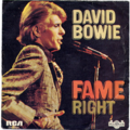 DAVID BOWIE - Fame/Right - 45T (SP 2 titres)