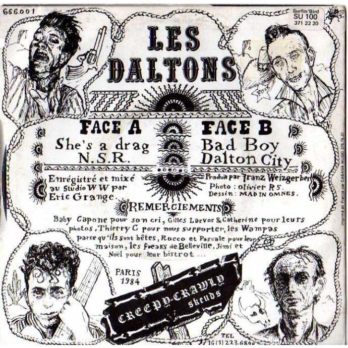 DALTONS (LES) Tagada tagada voila...She's a drag / N.S.R / Bad boy / Dalton city