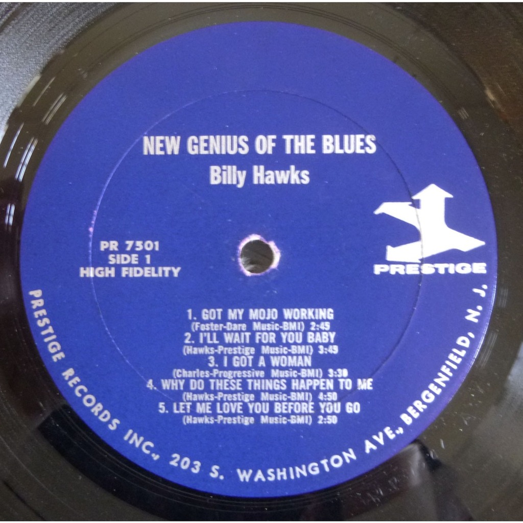 BILLY HAWKS the new genius of the blues ( original press )