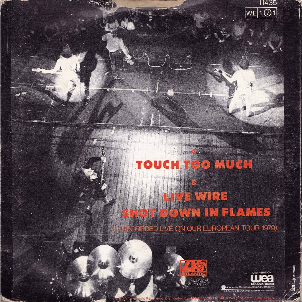 Touch too much/ live wire & shot in flames by Acdc - Ac Dc, SP with ...