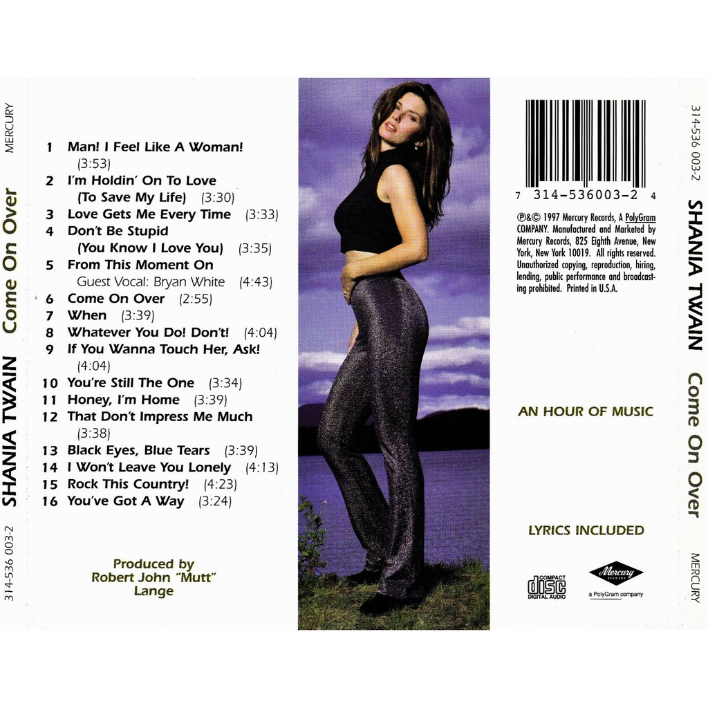 Come On Over By Shania Twain Cd With Allaboutvinylplus