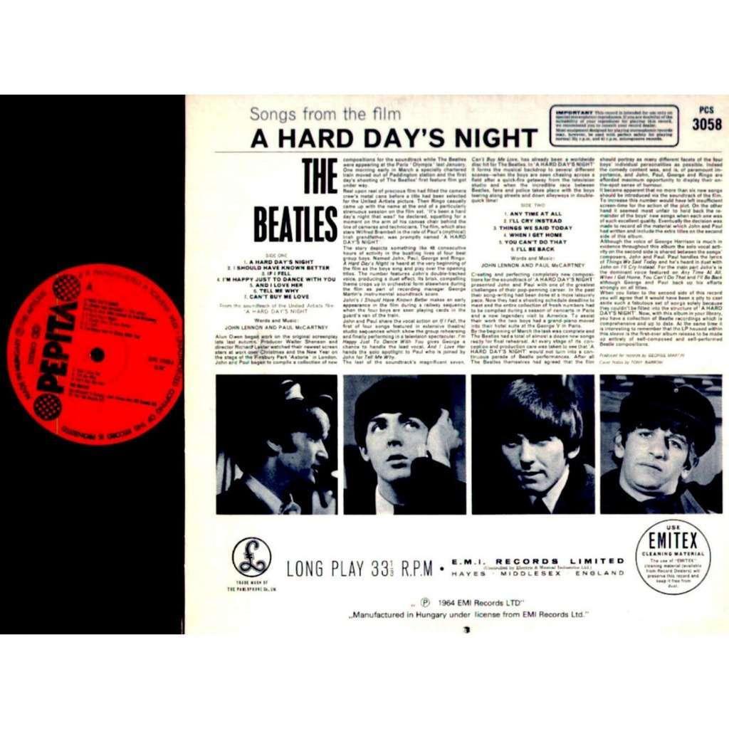 Beatles - A Hard Day's Night - Pepita Label