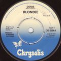 BLONDIE - Denis/Contact in red square/Kung fu girls - 45T (SP 2 titres)