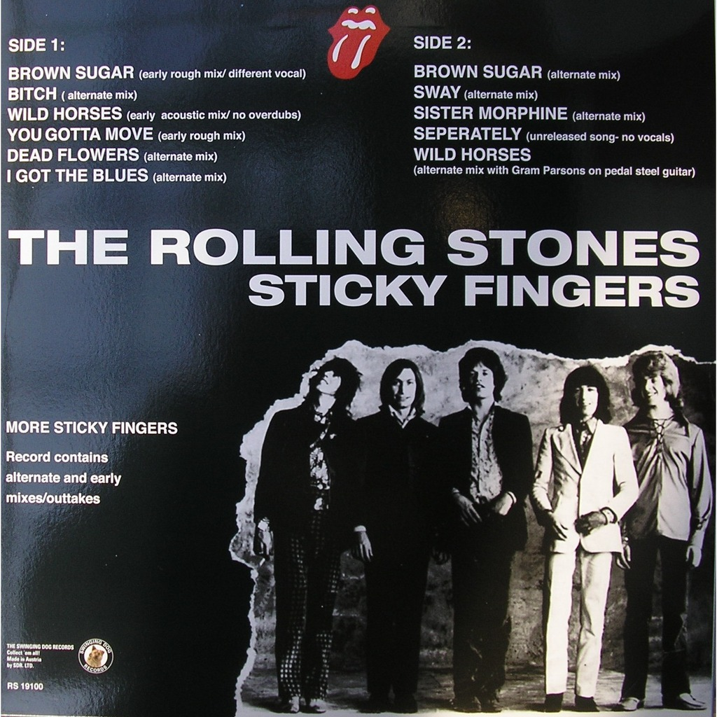 Sticky Fingers More Sticky Fingers By Rolling Stones Lp