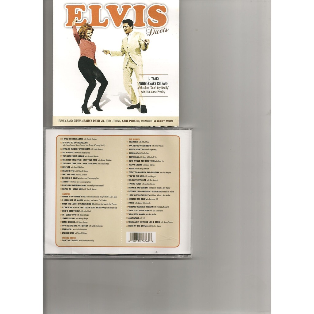 Elvis Presley Duets 2 Cd Picture Discs 49 Outtakes Rare By Elvis