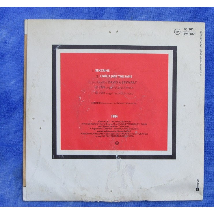 Eurythmics 1984 Sexcrime I Did It Just The Same 7inch