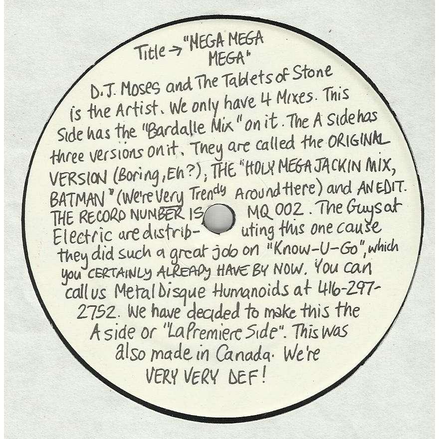 DJ Moses & The Tablets Of Stone - Mega Mega Mega