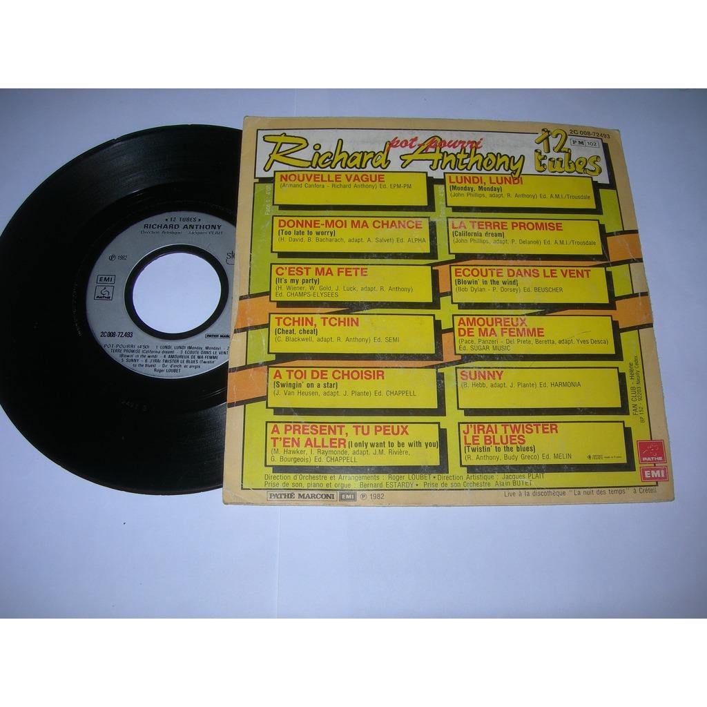 richard anthony 12 tubes medley ( proche EX / VG++ )
