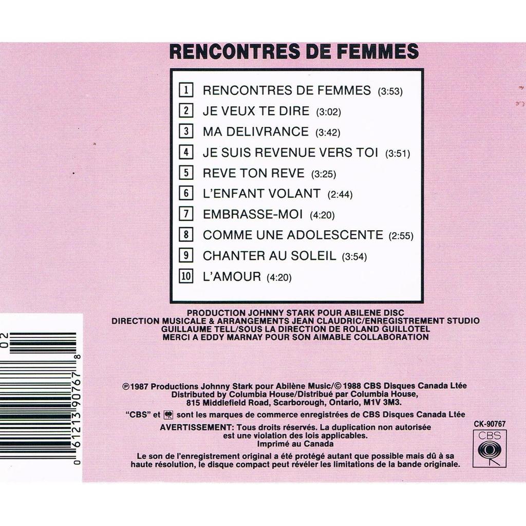 Mireille mathieu rencontres de femmes cd