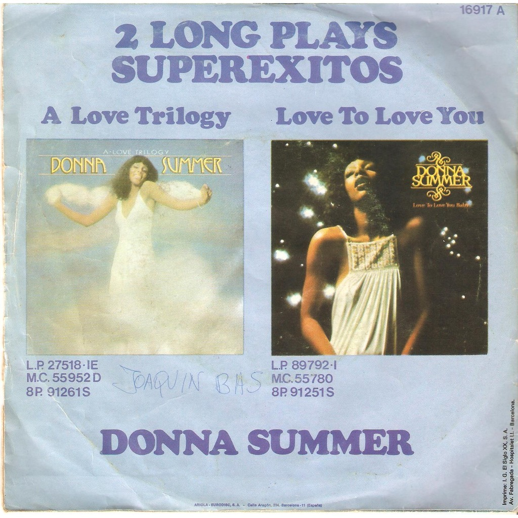 DONNA SUMMER Try Me... I Know... We Can Make It