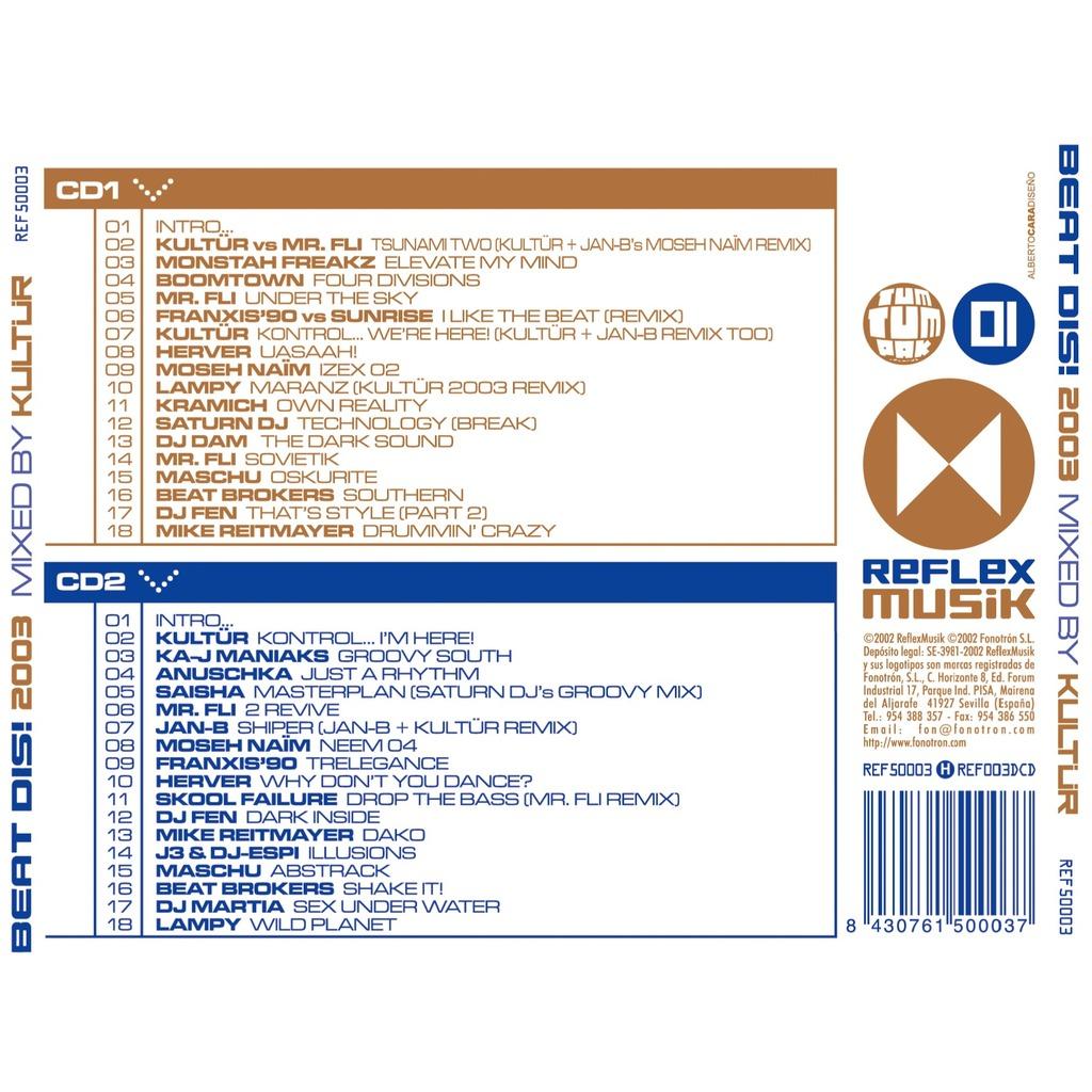 Dj Kultur, Mr. Fli, Dj dam, Herver... Beatdis! 2003 Mixed By Kultur