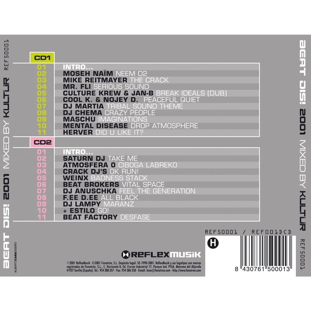 Dj Kultur, Dj Marta, Dj Chema... Beatdis! 2001 Mixed By Kultur