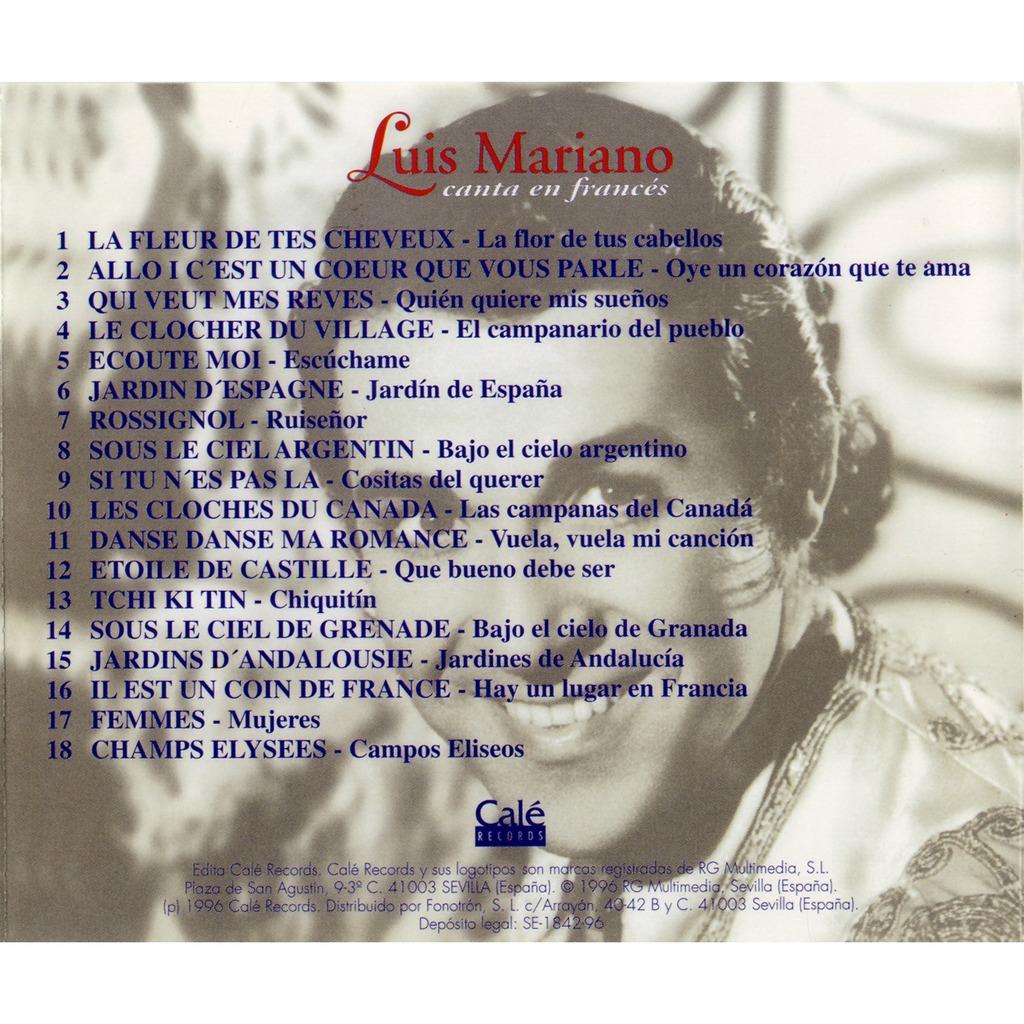Luis Mariano Luis Mariano Canta en Francés