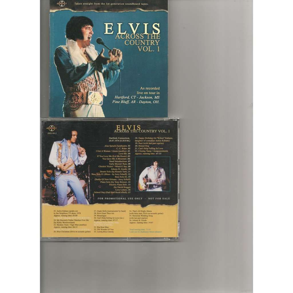 Elvis Presley 1 Cd Elvis Presley Across The Country Vol1 Cd Picture Disc Livret 28776 Divers