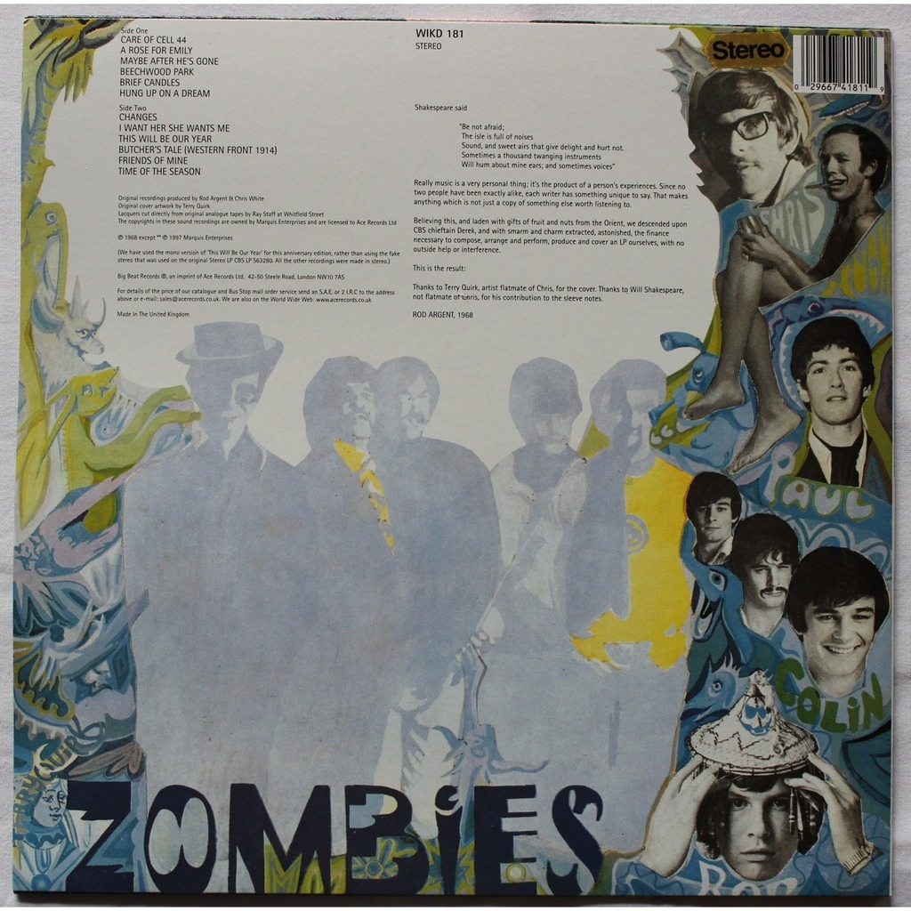 Odessey And Oracle 30th Anniversary By The Zombies Lp