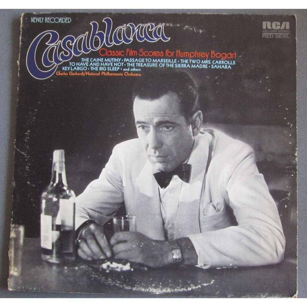 Casablanca Classic film scores for Humphrey Bogart (by National Philharmonic Orchestra/C. Gerhardt)