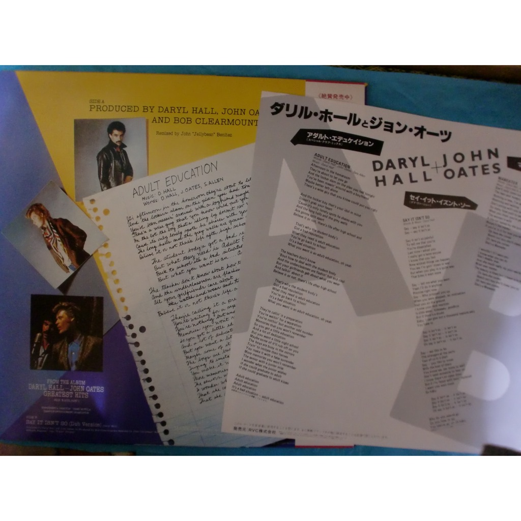 daryl hall john oates adult education(special club mix) +2 (Japan Only)