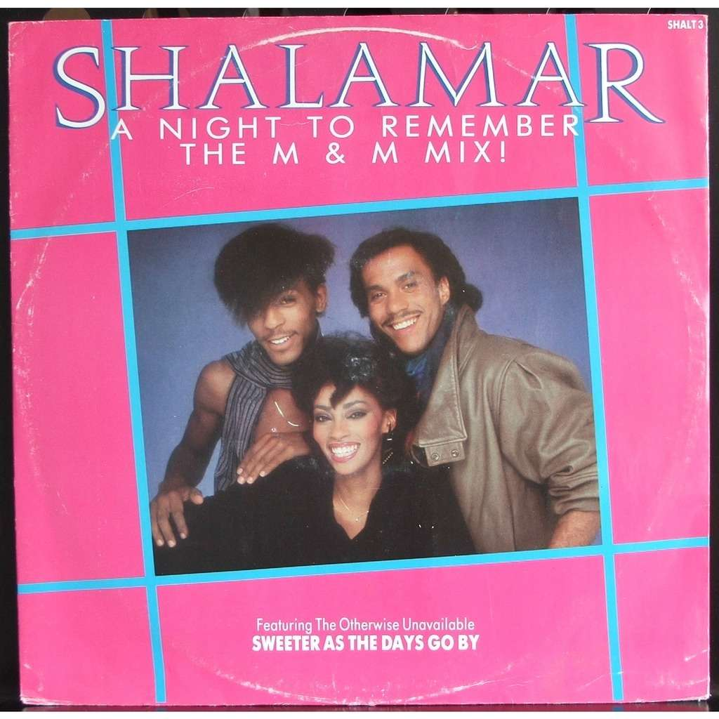 A Night To Remember By Shalamar 12inch With Soulvintage59