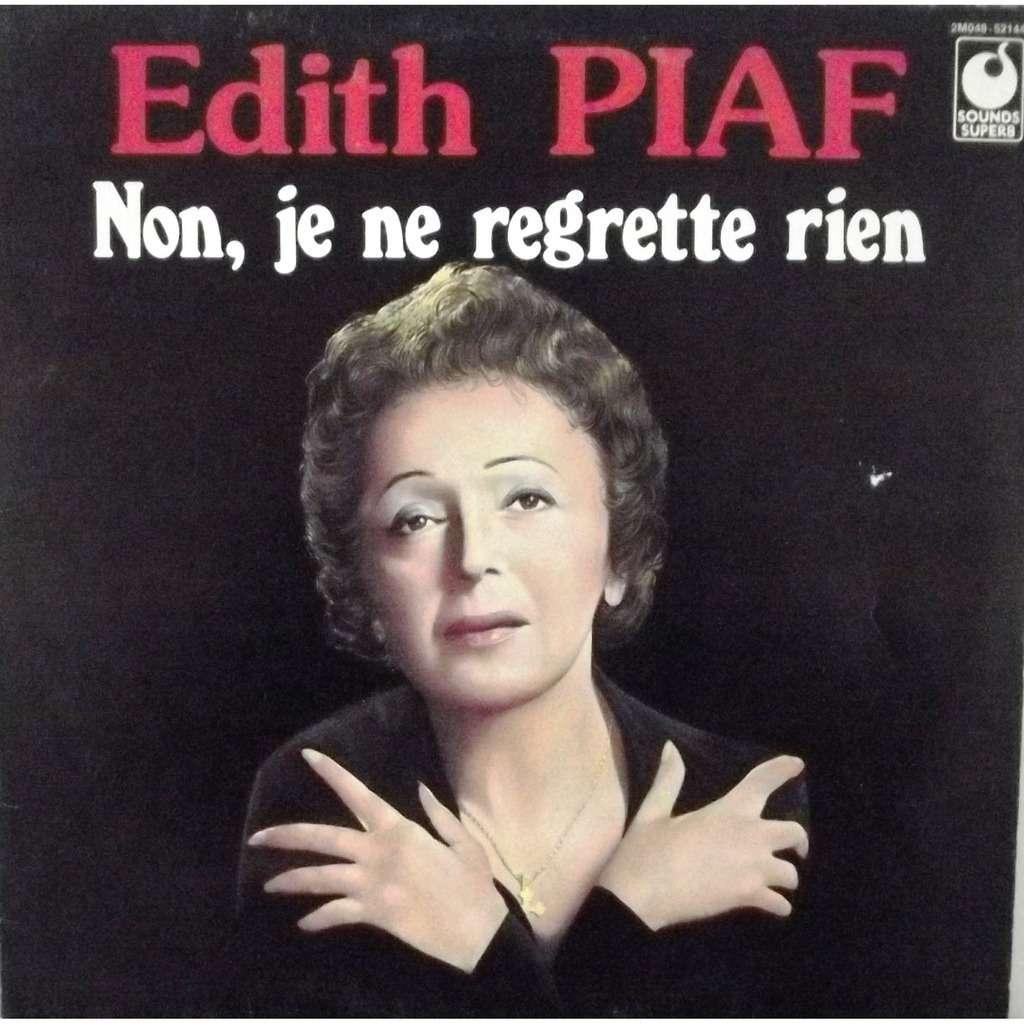 Edith Piaf Non Je Ne Regrette Rien De Edith Piaf 33t