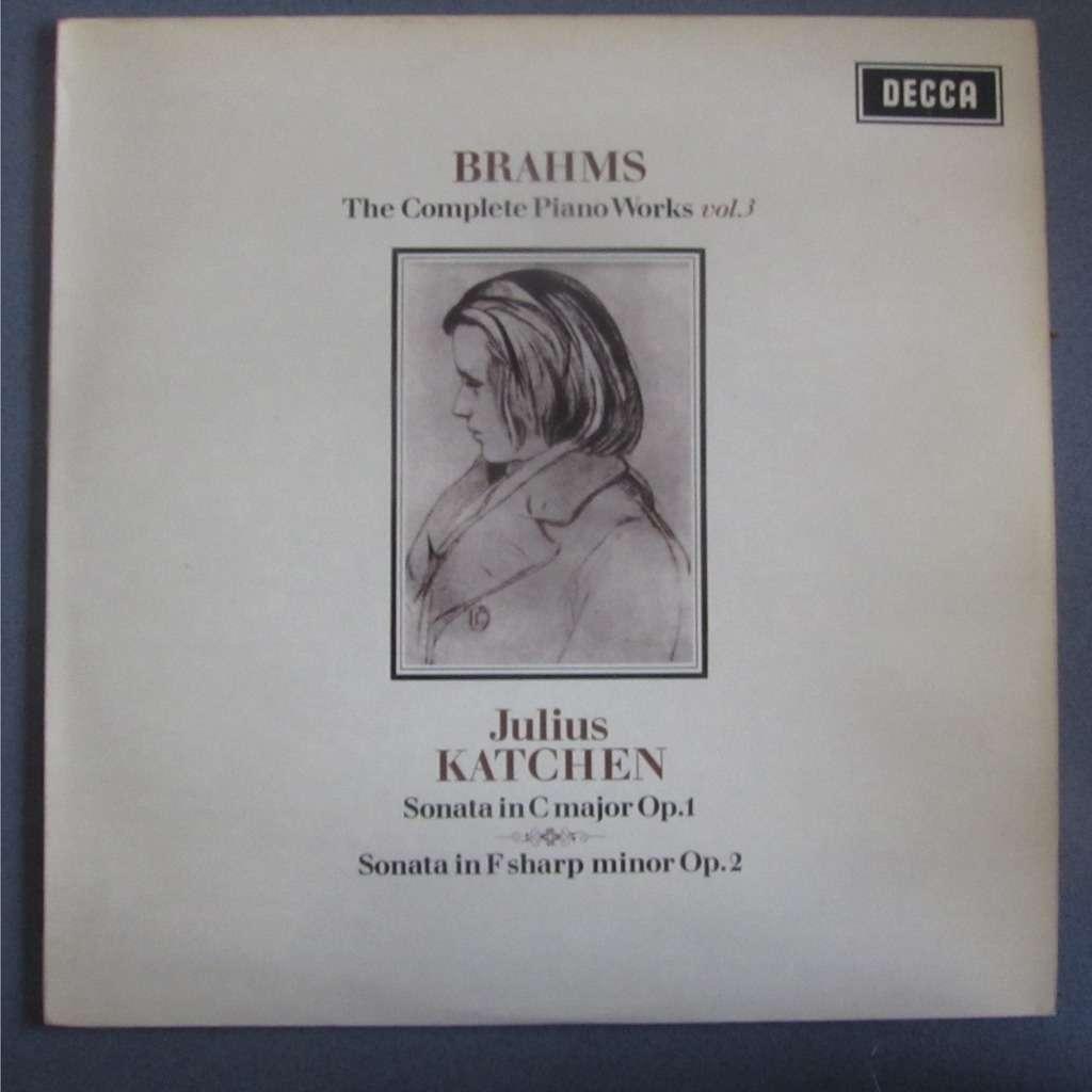 KATCHEN Julius Brahms : the complete piano works vol.3