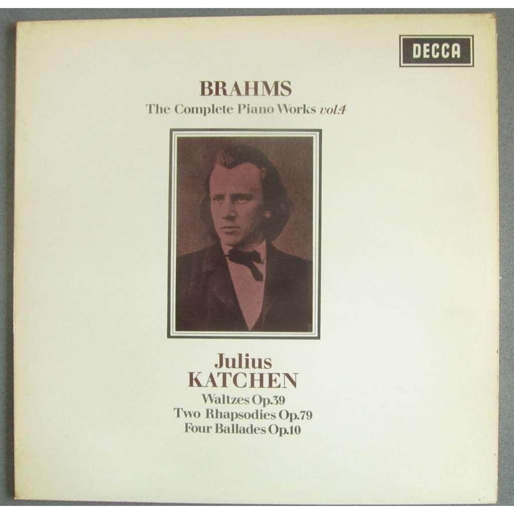 Katchen Julius BRAHMS: The Complete Piano Works Vol. 4