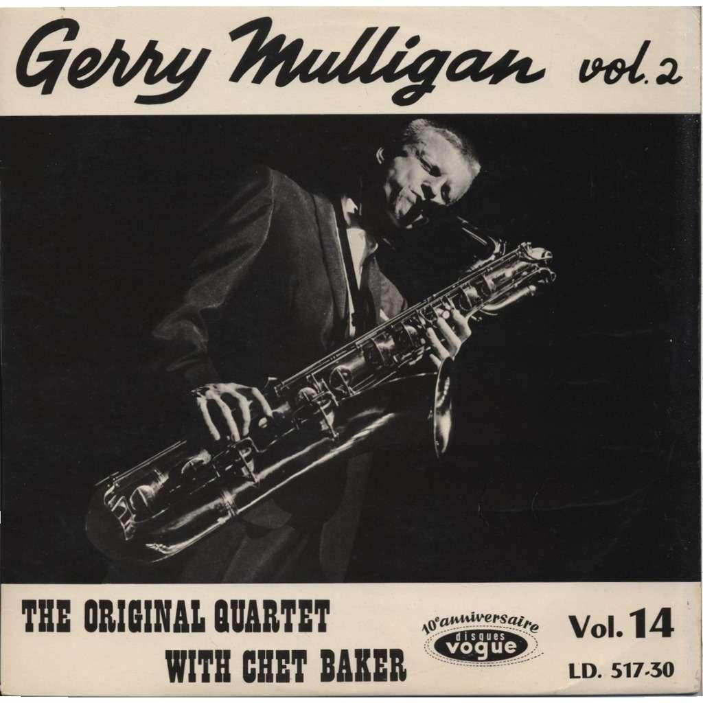 GERRY MULLIGAN Vol. 2 / The Original Quartet With Chet Baker / 10e anniversaire Disques Vogue  Vol. 14