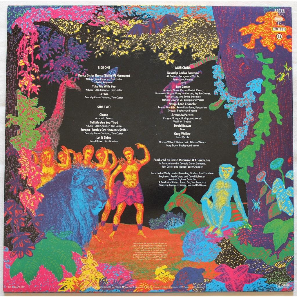 Amigos By Santana Lp With Rocknrollbazar Ref 115484716