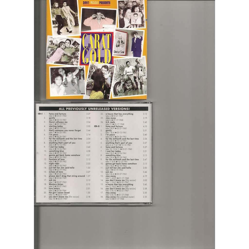 Elvis Presley ELVIS PRESLEY 24 CARAT GOLD 2 CD 61 OUTTAKES