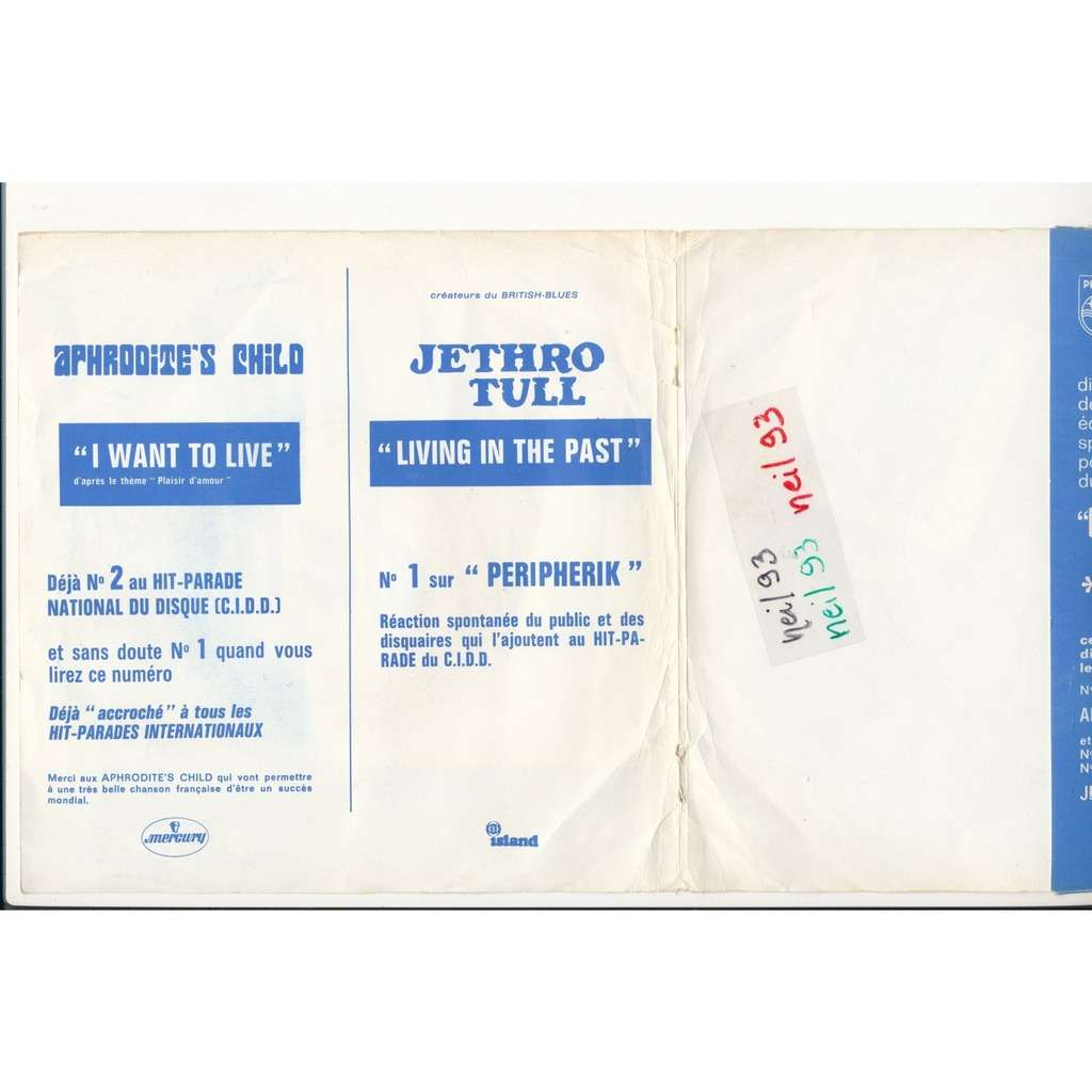 JETHRO TULL - APHRODITE'S CHILD living in the past - i want to live