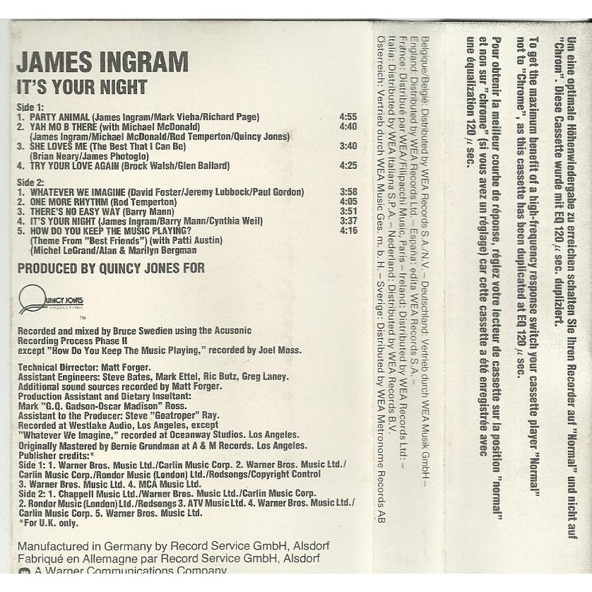Ingram, James It's Your Night
