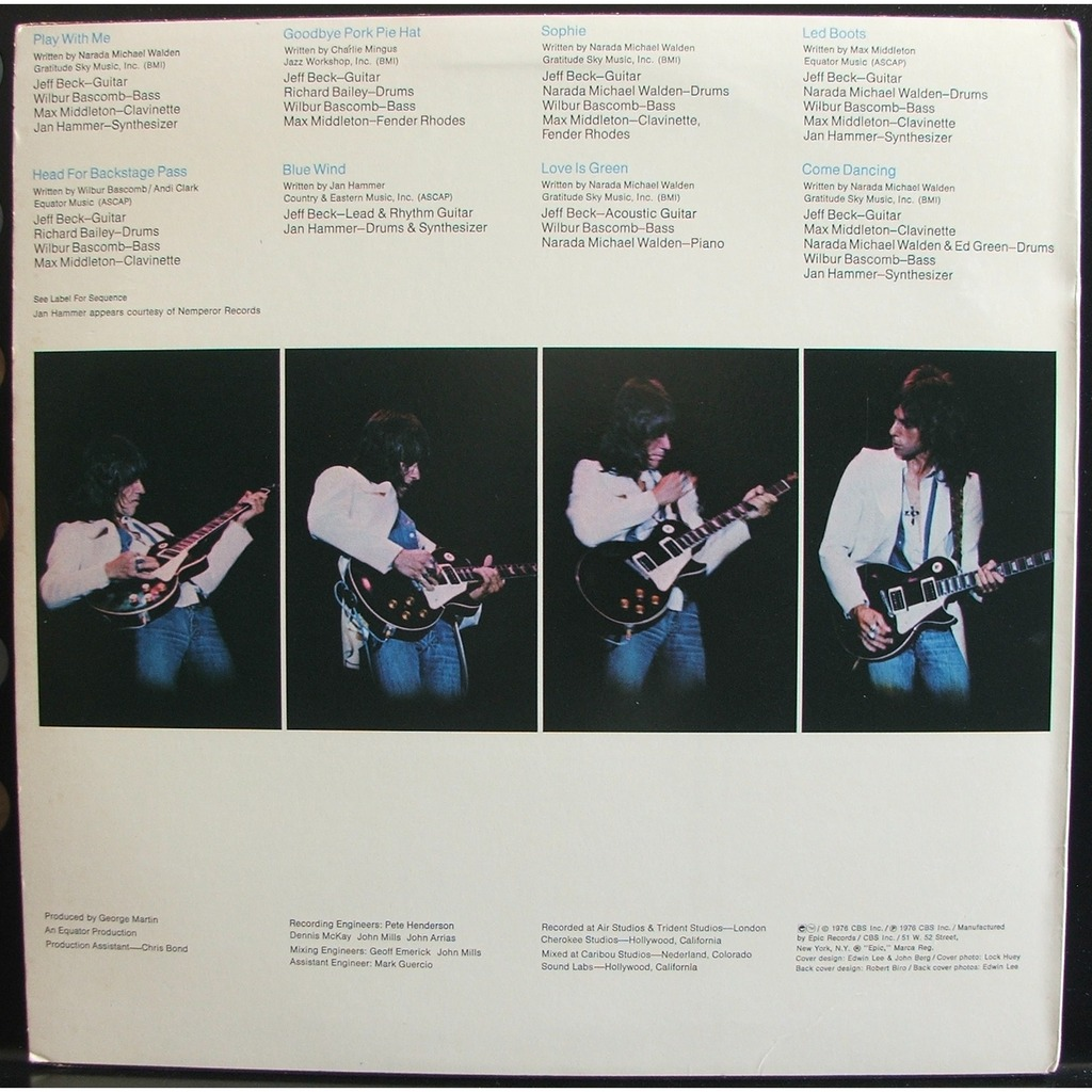 Jeff Beck Wired | Wired By Jeff Beck Lp With Soulvintage59