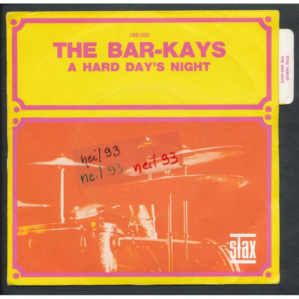 THE BAR-KAYS - THE BEATLES a hard day's night - i want someone