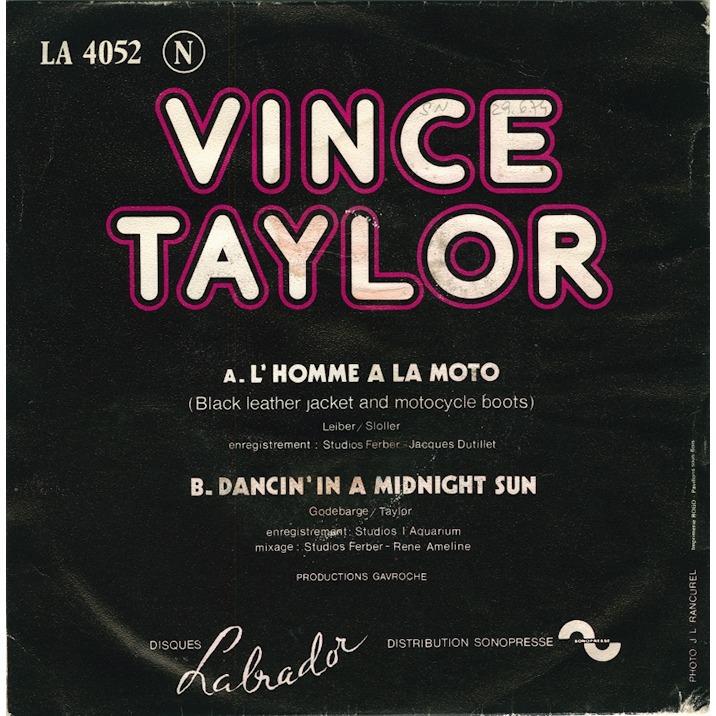 vince taylor L'homme à la moto/Dancin'in a midnight sun