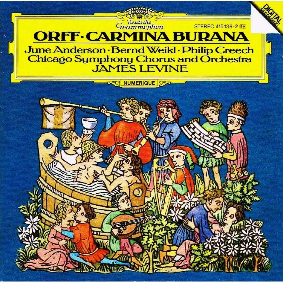 Carl Orff* Orff·/ James Levine / Chicago Symphony Orchestra Chorus* Chicago Symphony Chorus·And Chicago Symphony Orchestra, The* Orchestra - Carmina Burana