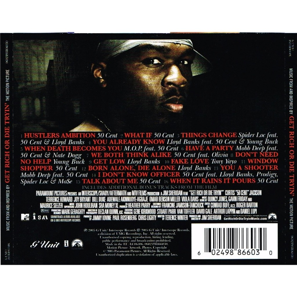 Music From And Inspired By Get Rich Or Die Tryin The