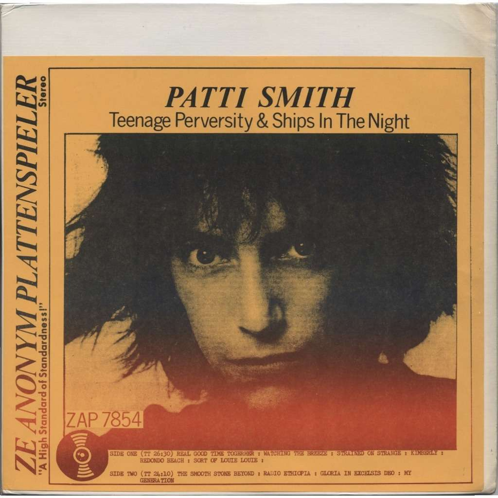 PATTI SMITH Teenage Perversity Ships In The Night ORIGINAL