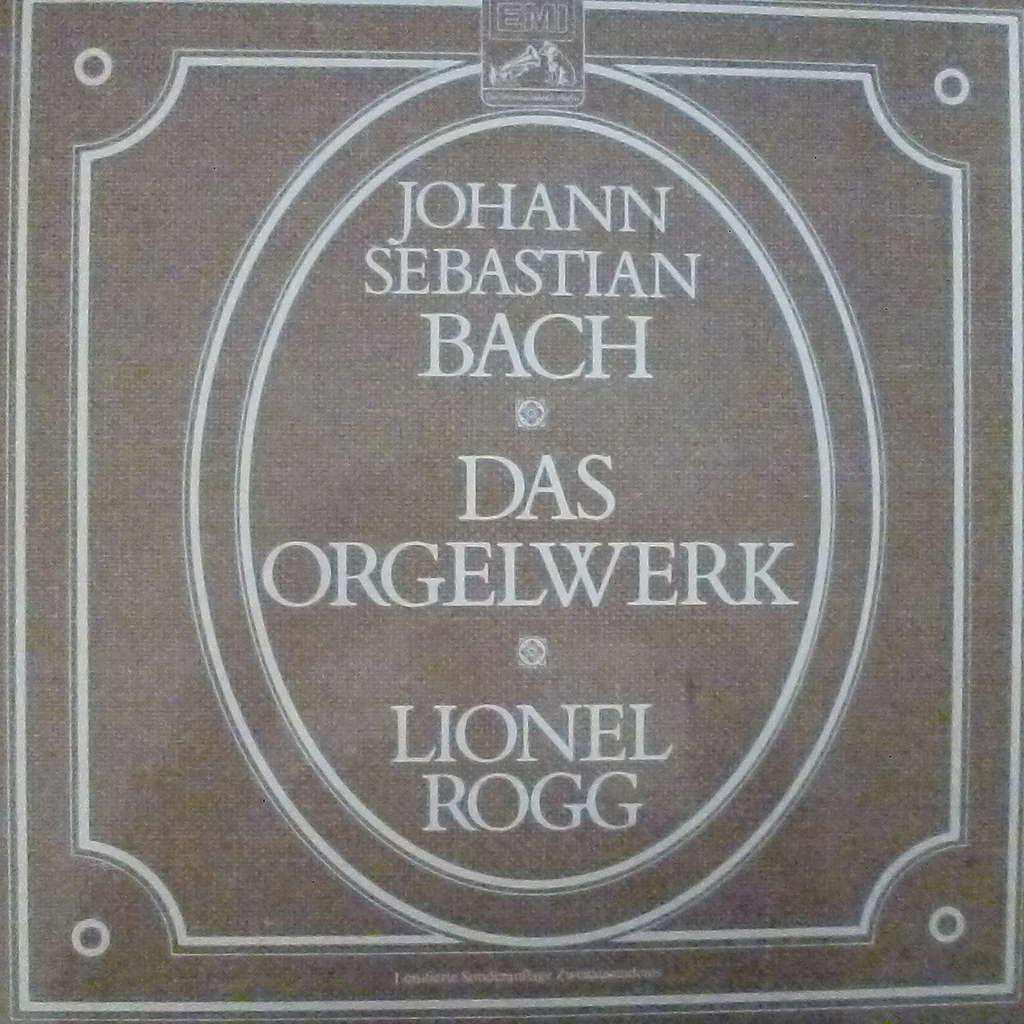 lionel Rogg Bach - l'oeuvre d'orgue