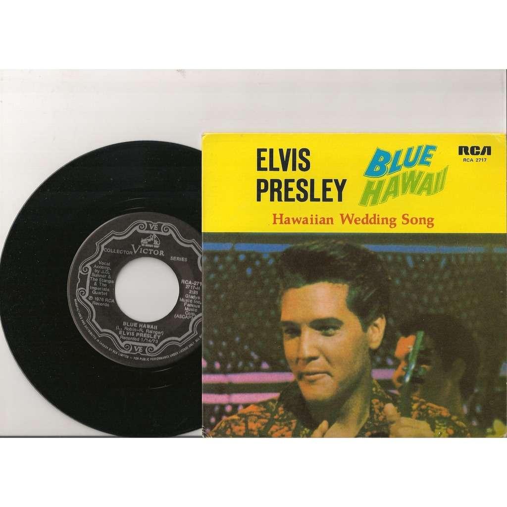 Elvis Presley Blue Hawaii Hawaiian Wedding Song 45 Tours Canada 1978 RCA 2717 Rare