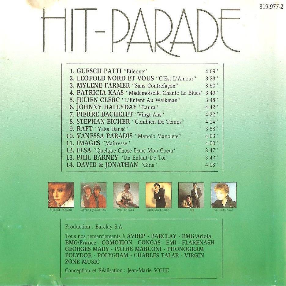 MYLENE FARMER / Vanessa Paradis / Johnny Hallyday Hit-Parade 87