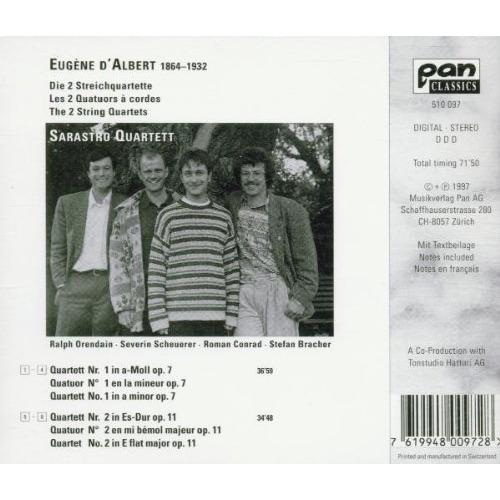 Albert, Eugene d' (1864-1932) String Quartets