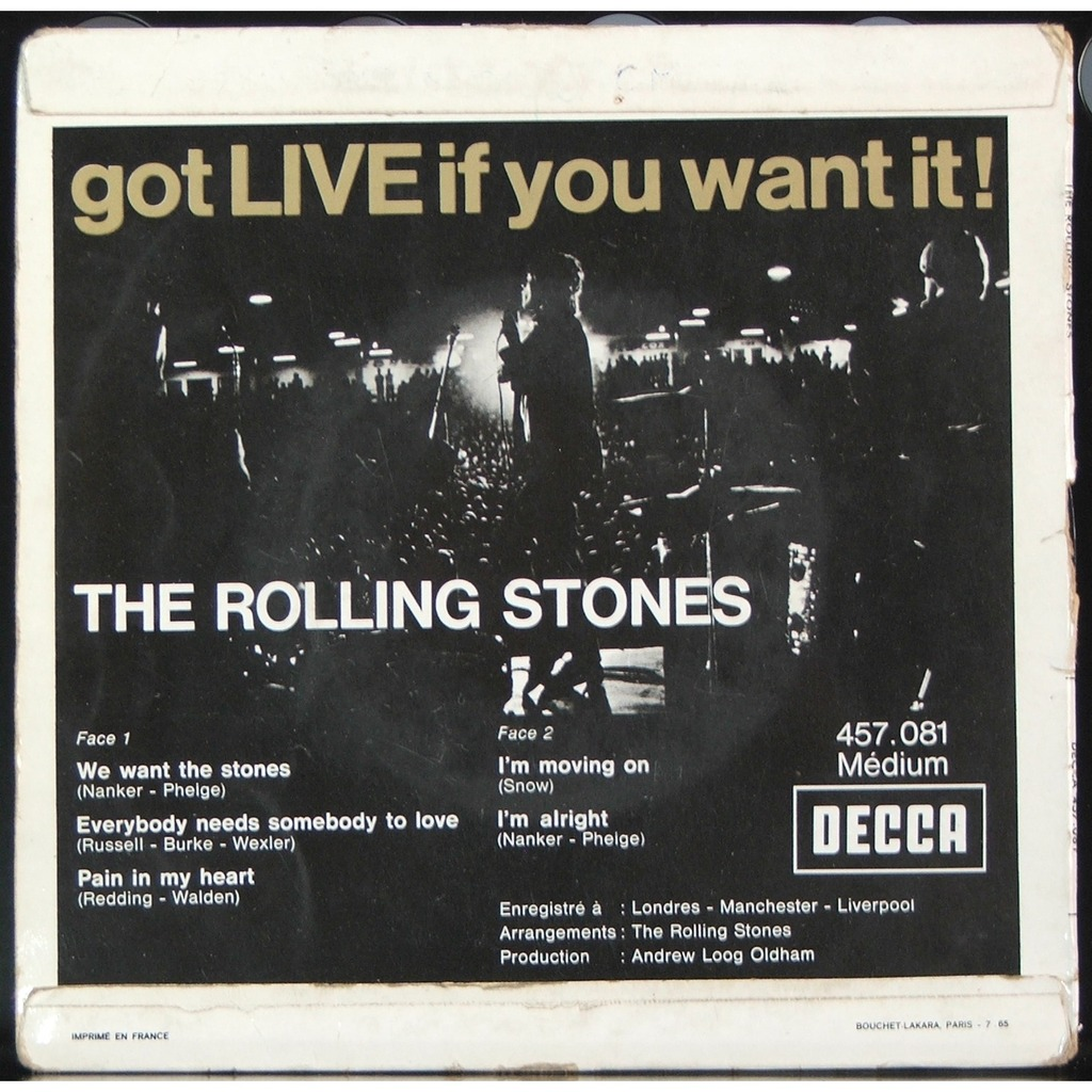 Got Live If You Want It By The Rolling Stones Ep With